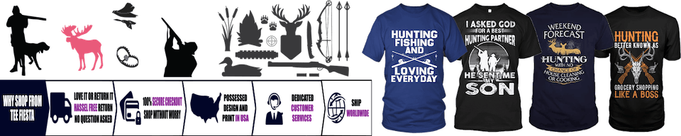 f7cc9881 Hunting Lover's Tees-Tee Fiesta Hunting Lovers T-Shirt